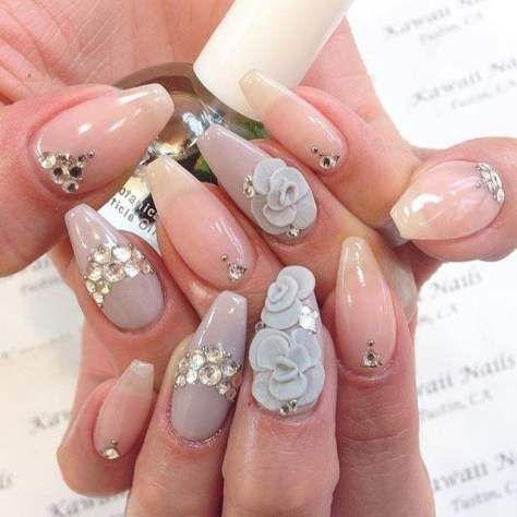 acrylic nail art design 2018