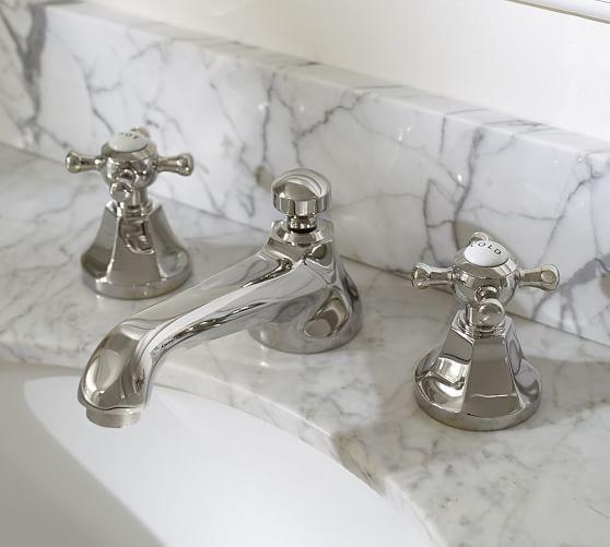 Cross Handle Widespread Bathroom Faucet