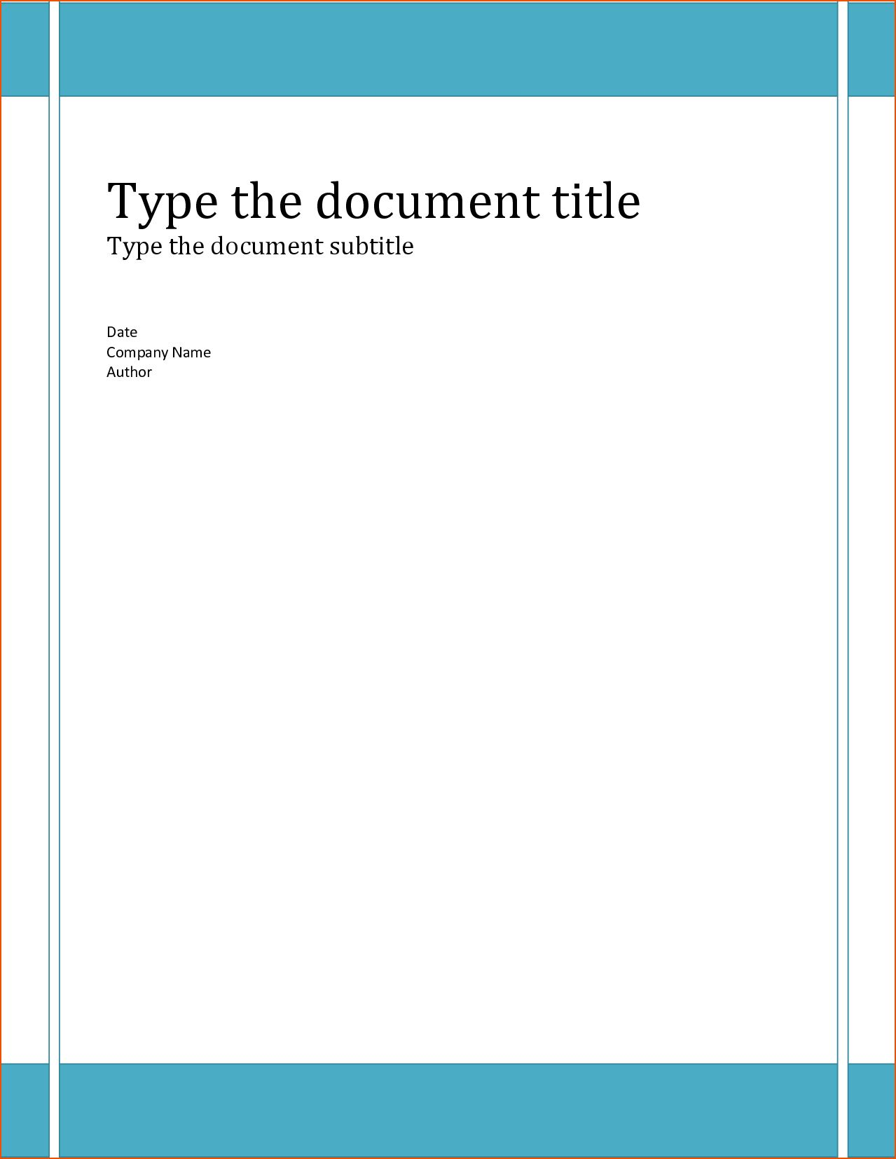 The amusing 6+ Word Report Templates Bookletemplate