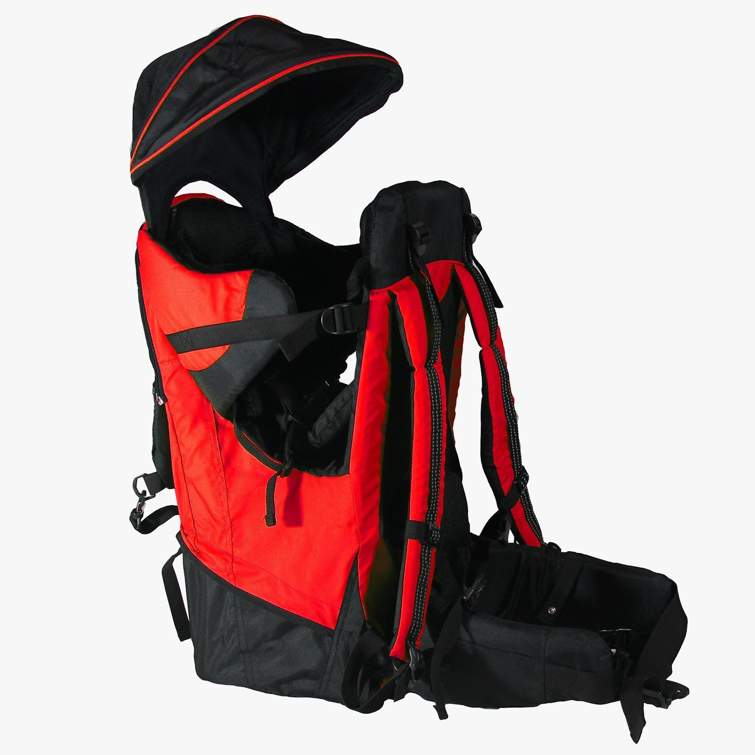 Deluxe Red Baby Toddler Backpack Cross Country Carrier Stand Child