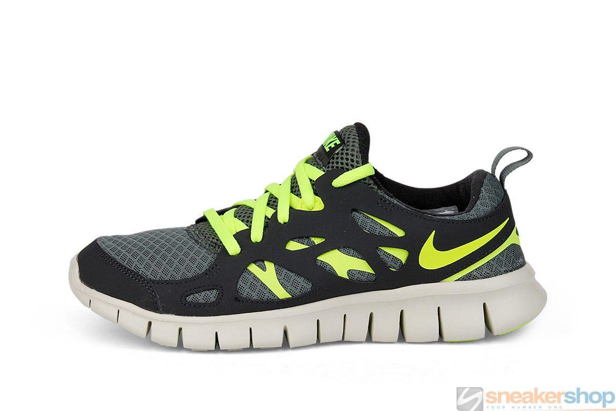 0b9bc6cfe6b6 Nike Free Run 2 (GS) (Dark Mica Green Volt-Black)