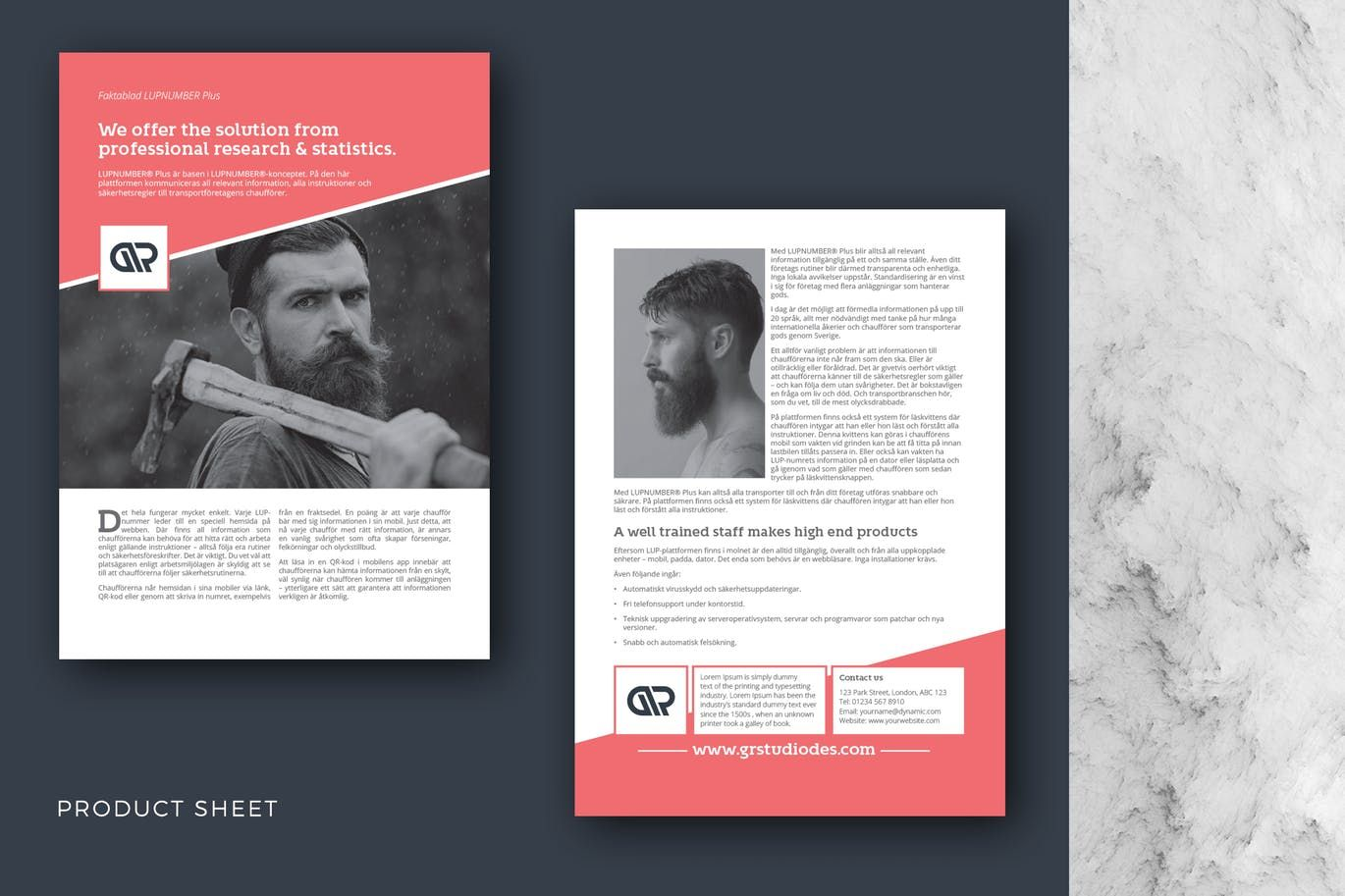 Product Sheet Template InDesign INDD A4