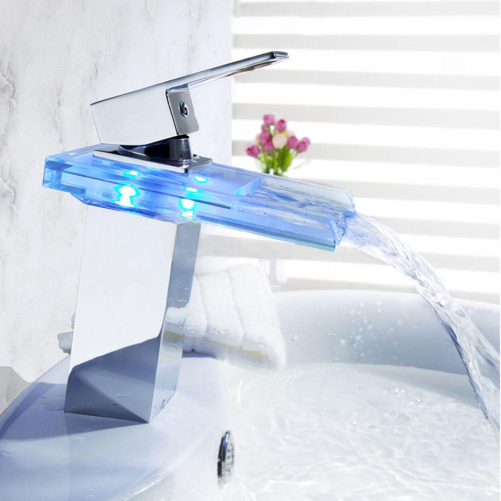 Sumerain Essenzia LED Thermal Waterfall Basin Faucet Price ...