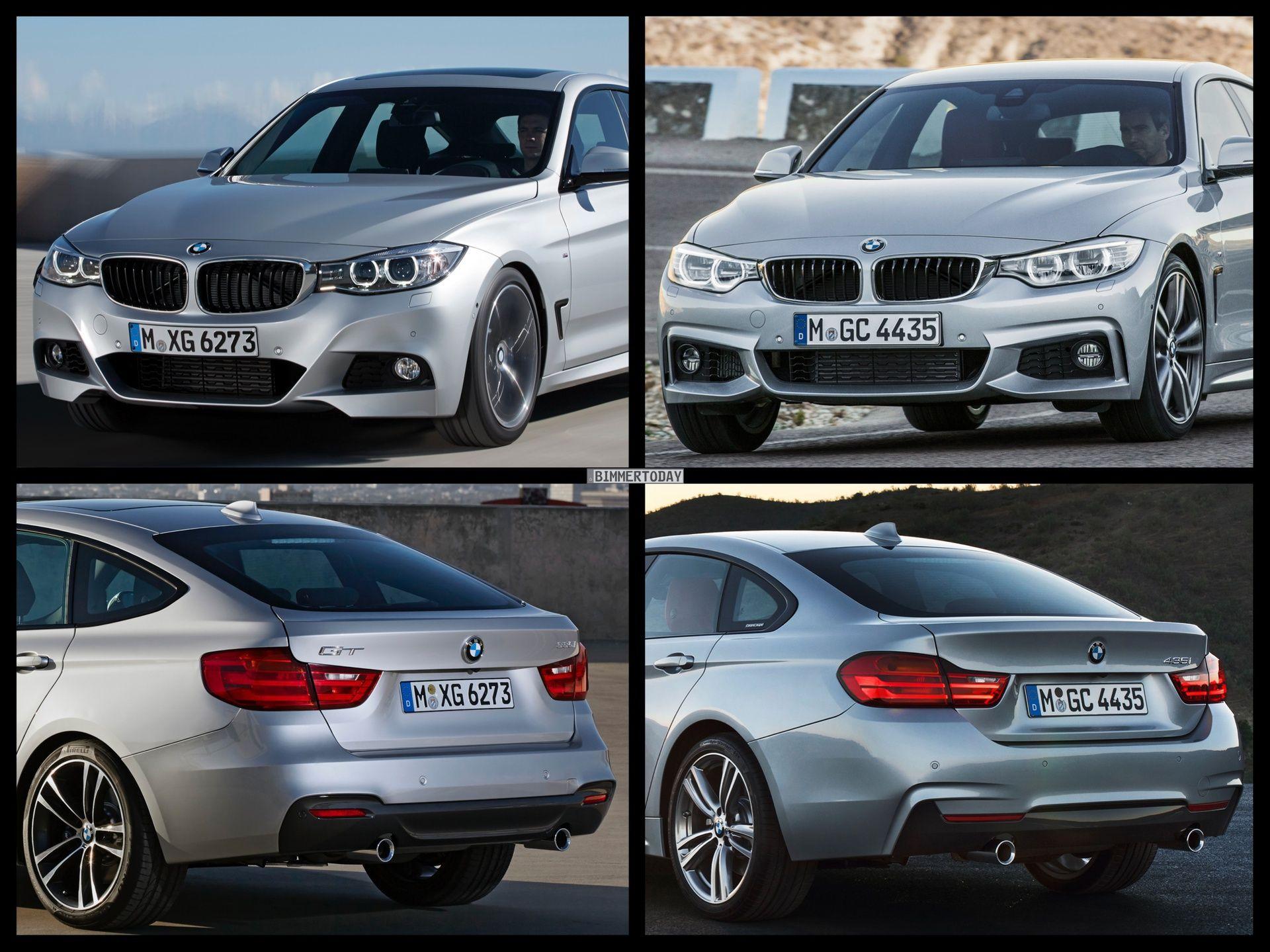 Bmw 4 Series Gran Coupe Vs Bmw 3 Series Gt Photo Comparison Bmw 3 Series Gt Bmw Bmw 3 Series
