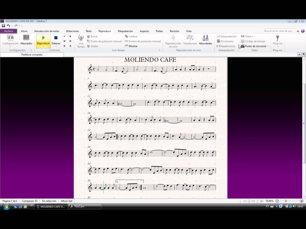 Moliendo Cafe Partitura Blank Sheet Music Sheet Music Youtube
