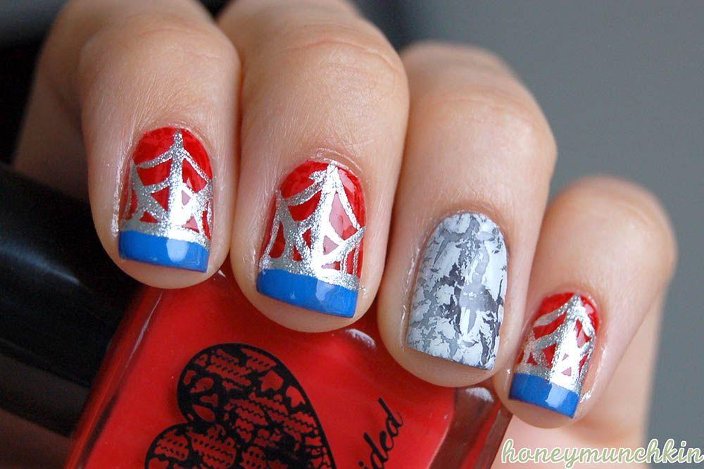 26 Fotos de uñas decoradas con Superhéroes   Decoración de Uñas - Part 2