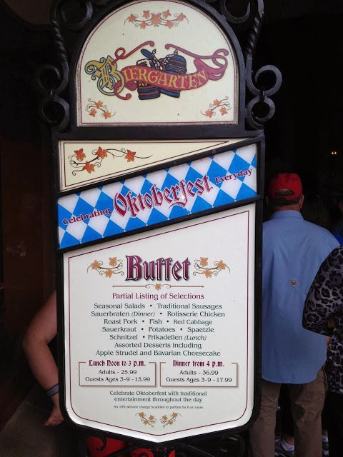 Gluten Free And Dairy Free At WDW Biergarten Lunch Table - Epcot table service