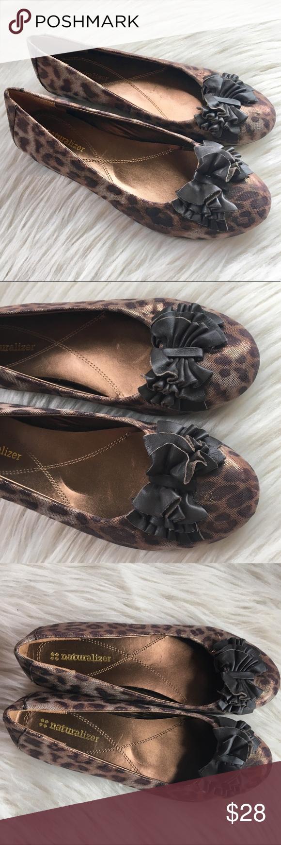 naturalizer leopard flats