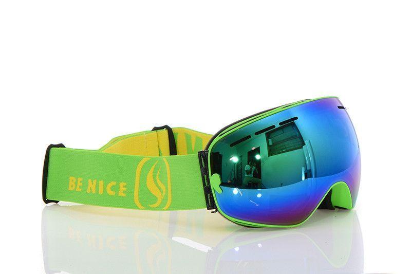 dc17976c0551 New genuine Brand Snowboard Ski Goggles 2 Double Layer Large Spectacal Anti  Fog motocross esqui men women skiing Eyewear nce33