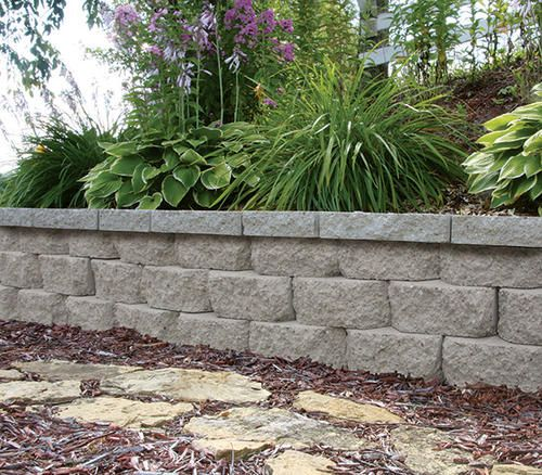 11 1 2 X 7 X 4 Breckenridge Retaining Block At Menards Landscaping Retaining Walls Backyard Retaining Walls Retaining Wall