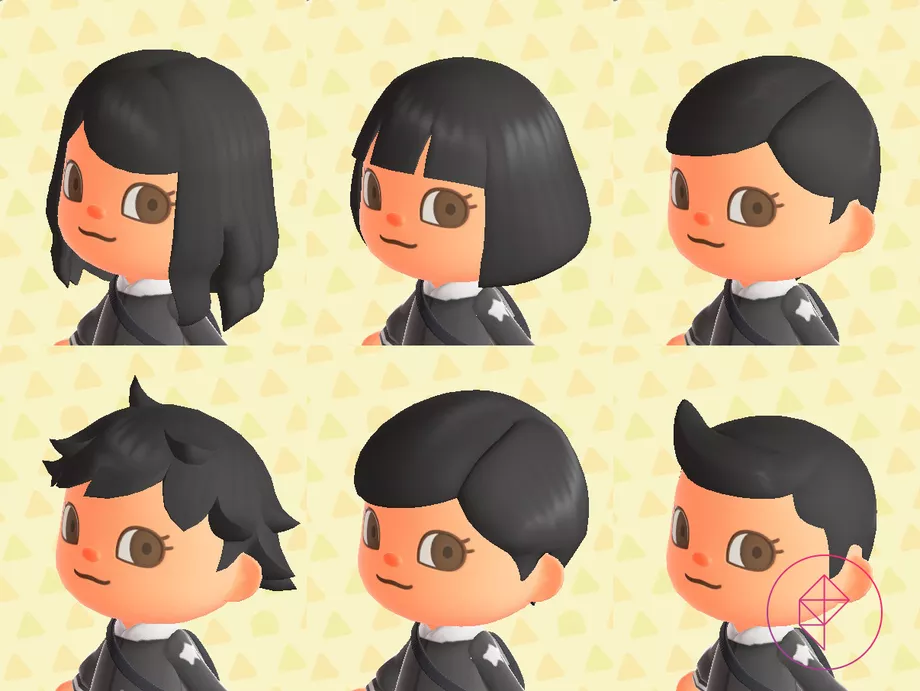 Animal Crossing New Horizons Switch Hair Guide Polygon In 2020 Animal Crossing Characters Animal Crossing Animal Crossing Hair