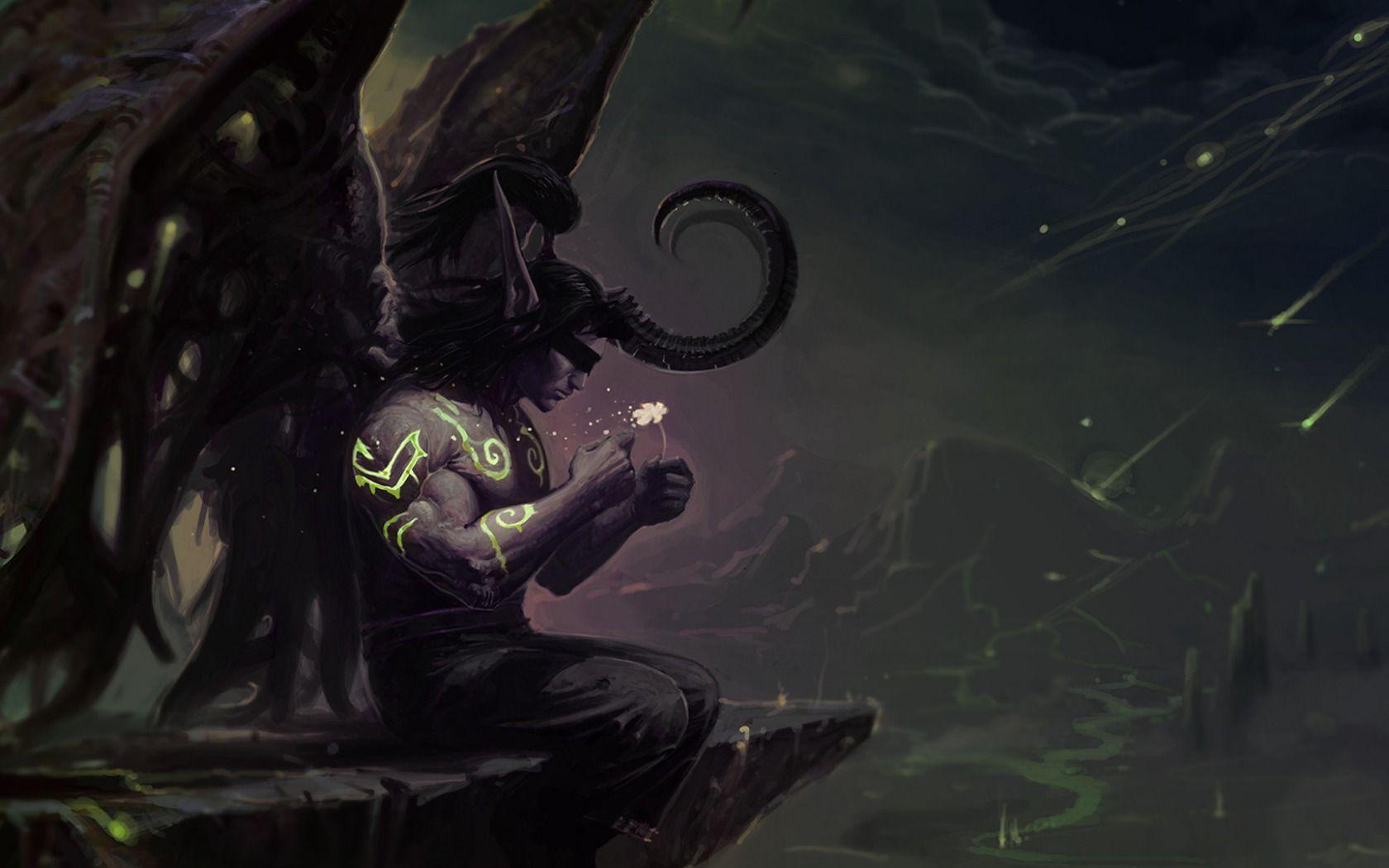 Download Wallpaper Wow World Of Warcraft Illidan Stormrage