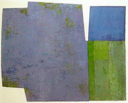 """Blå og grøn komposition"""". 1992 Albert Bertelsen"""