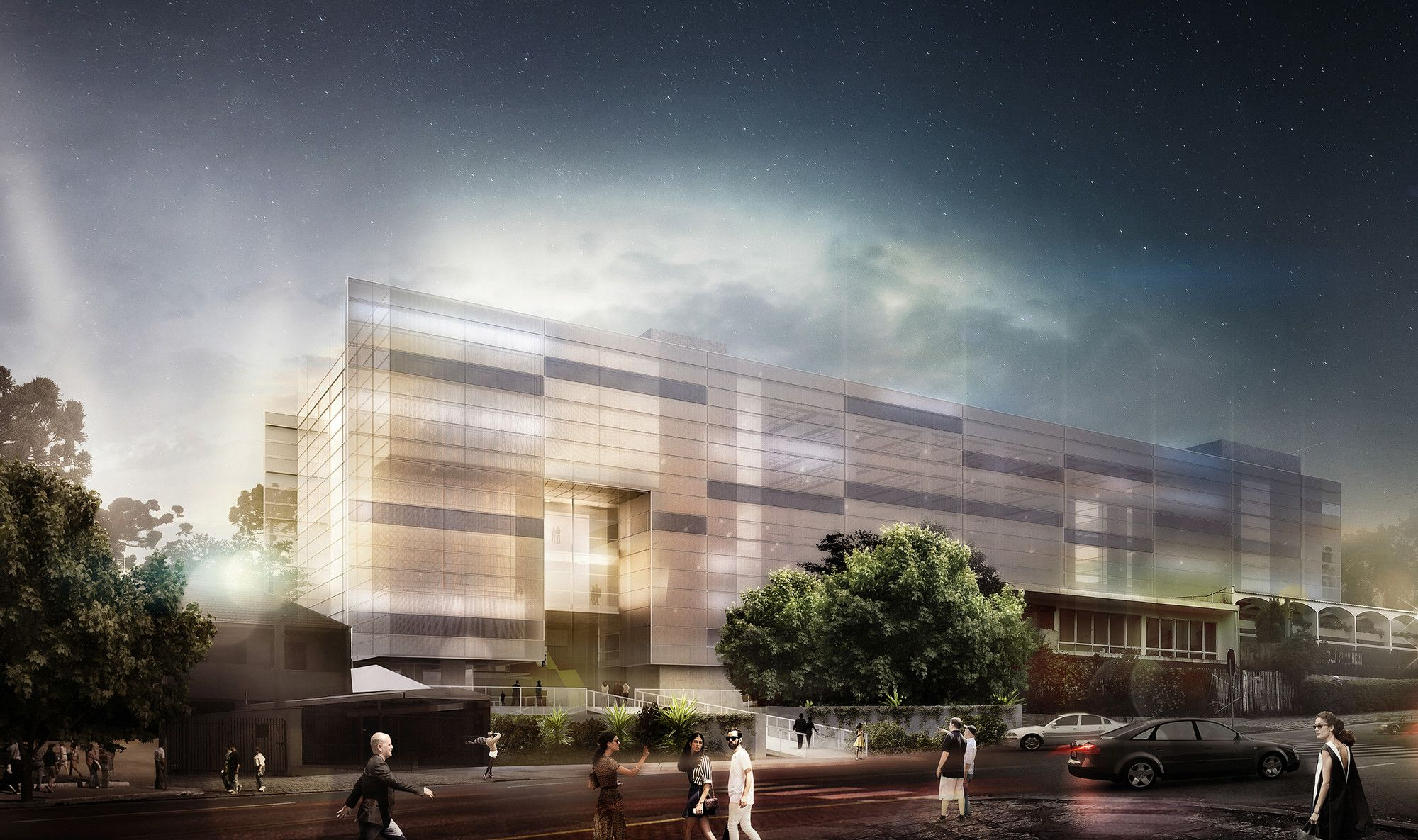 Galeria - Primeiro lugar no concurso para Nova Sede do Clube Curitibano / Arqbox Arquitetura - 1