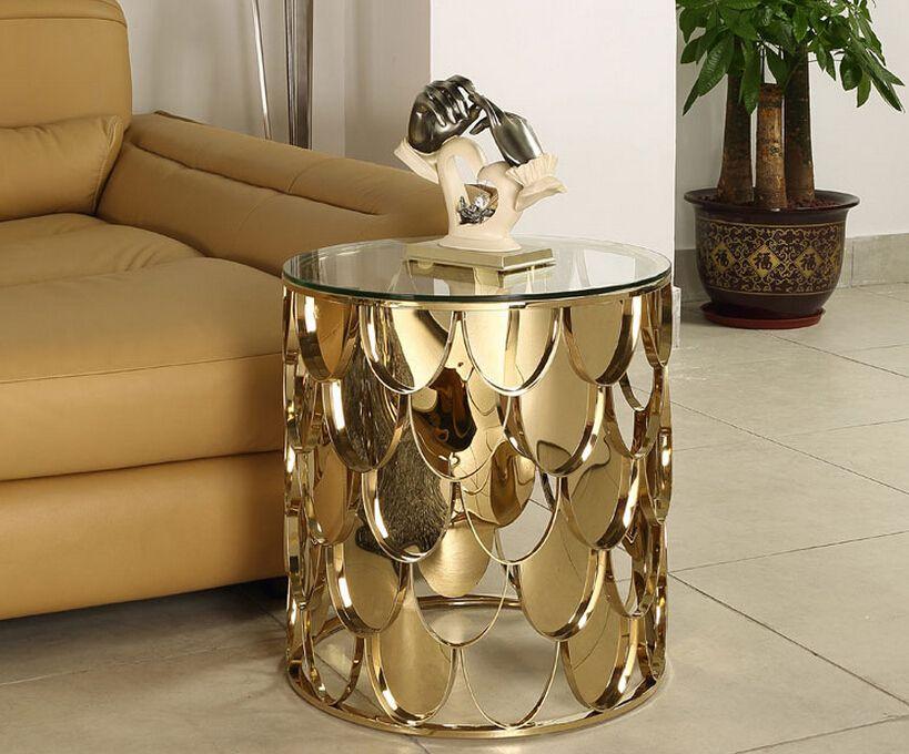 Rose Gold Color Sidetabledesign Furnitureworld Moderndesign Living Room Design