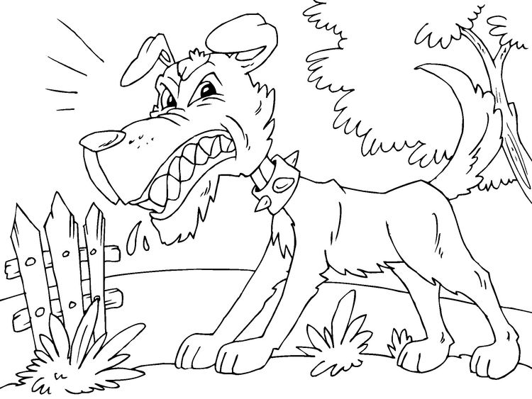 Coloring Page Angry Dog Img 22679 Dog Coloring Book Dog Coloring Page Coloring Pages