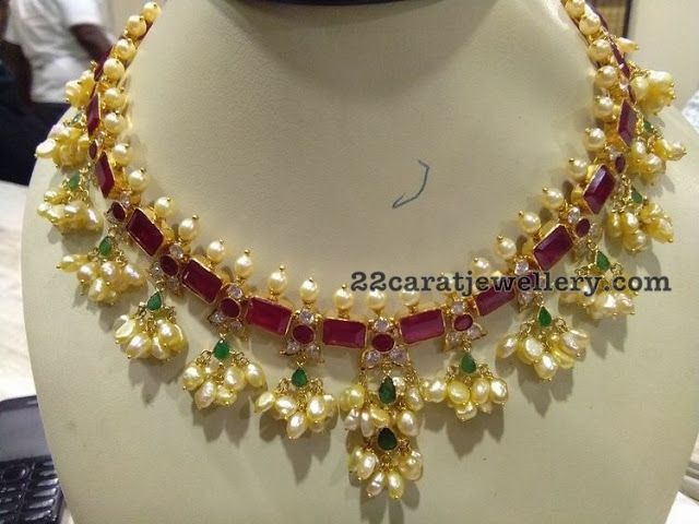 2d00059f6861d Ruby Rice Pearls Choker | Jewellery | Imitation jewelry, Pendant ...