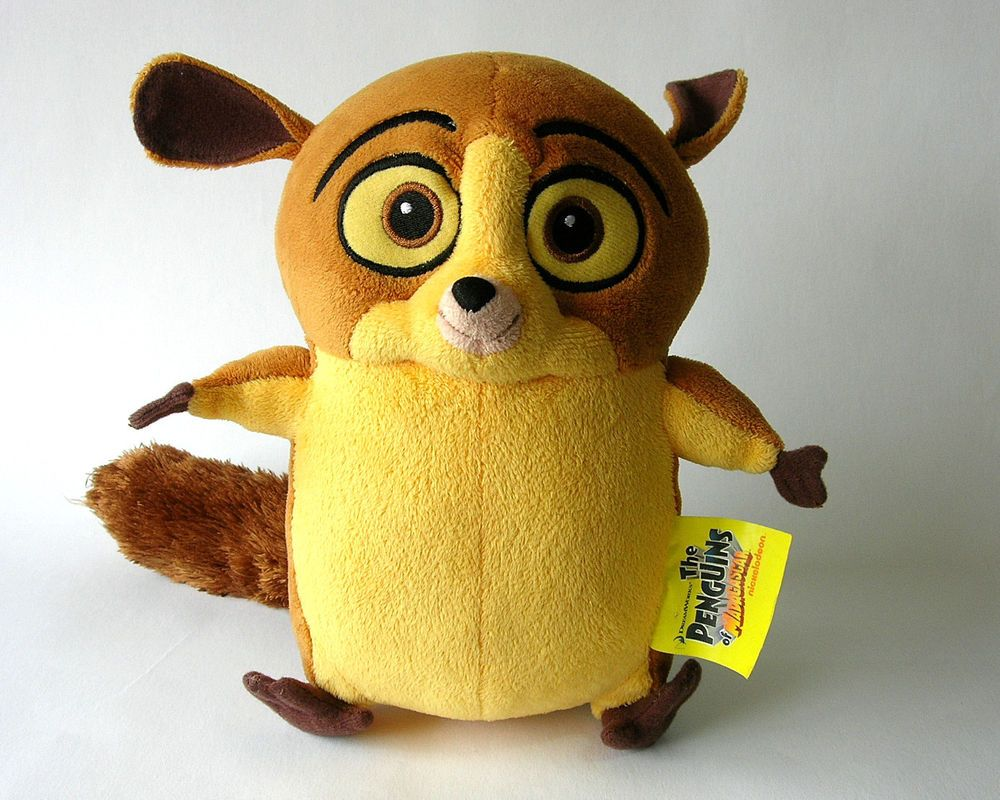 Mort The Mouse Lemur From The Penguins Of Madagascar 22cm Plush