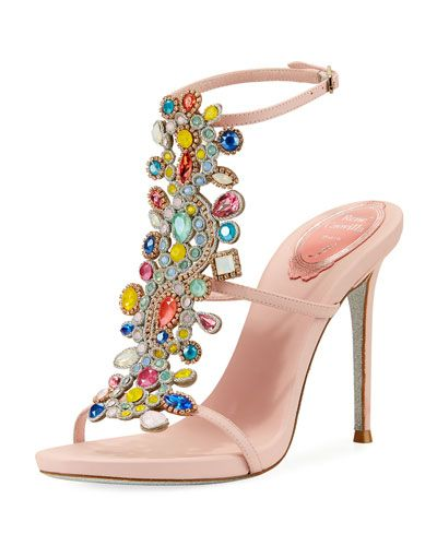 René Caovilla beaded strappy high heel sandal free shipping largest supplier factory outlet for sale low price fee shipping online FjCidIRoeQ