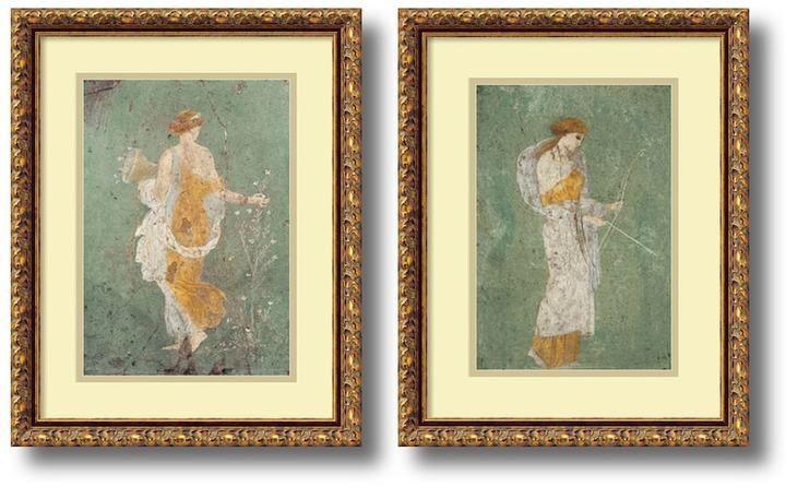 Amanti Art \'Primavera and Diana\'\' 2-piece Framed Wall Art Set | Wall ...