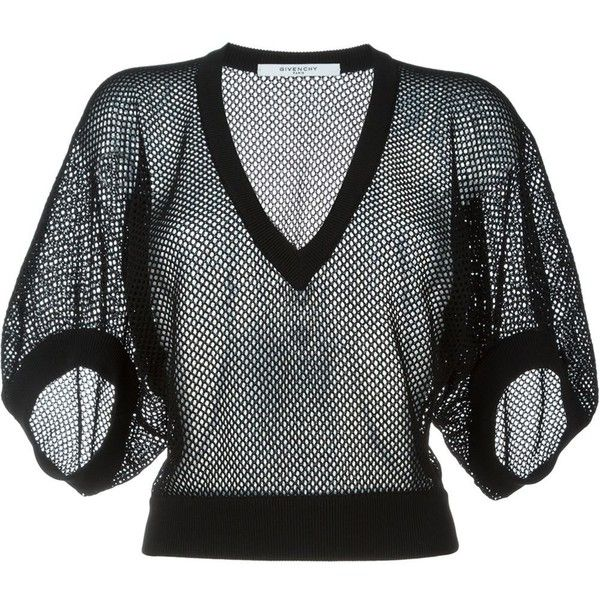 c3564be5da8b Givenchy fishnet sweater (€425) ❤ liked on Polyvore featuring tops ...