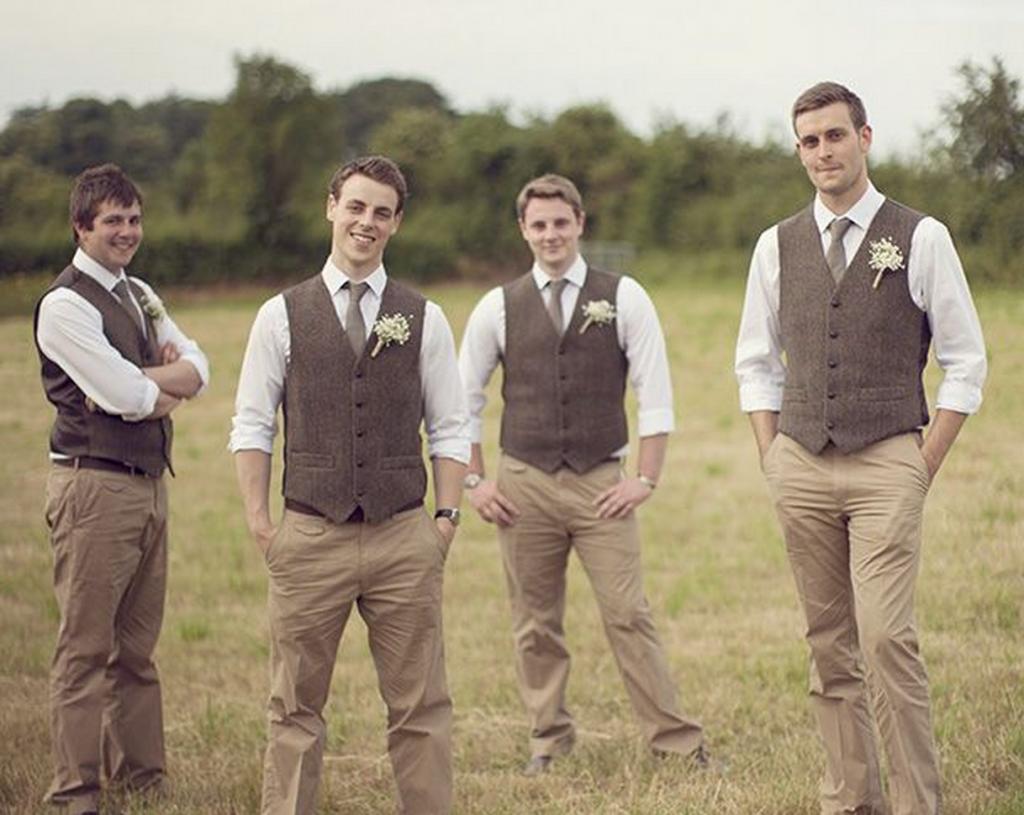 Brown Groomsmen Suits | My Dress Tip