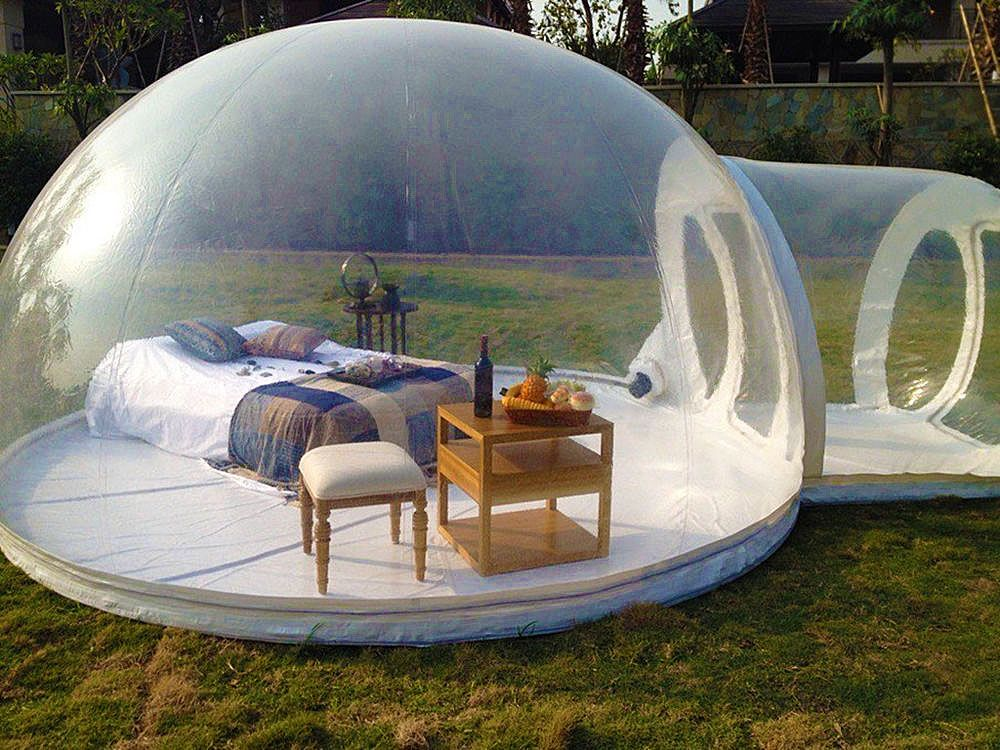Inflatable Bubble House is the Perfect Escape | Tents, Bubbles and ...