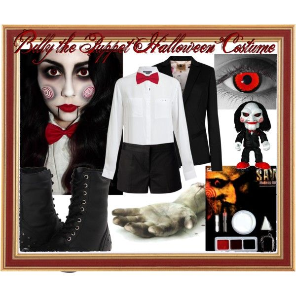 saw billy the puppet halloween costume by jessspectacular on polyvore featuring vince ted baker - Puppet Halloween