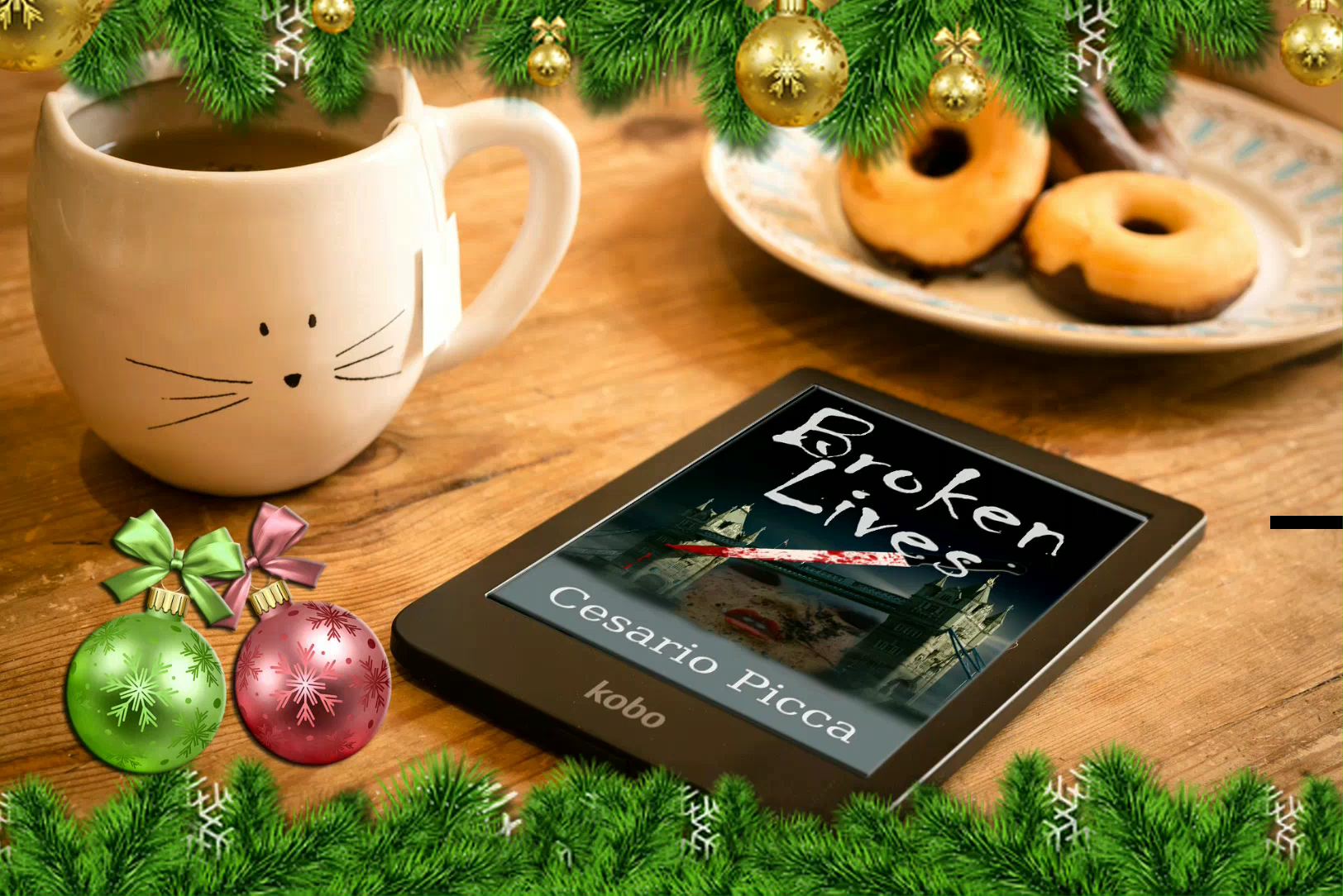 For your #Christmas try #reading or giving a #book away like #SaruSantacroce's #thrillers #BrokenLives or #MurderInTheTremitiIsles #readingcommunity #giftidea #ChristmasIsComing #gifts