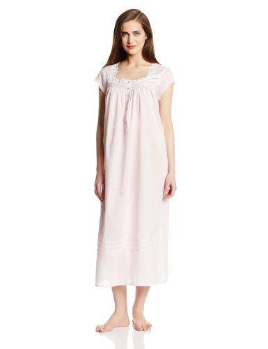 Eileen West Women s 50-Inch Cap-Sleeve Nightgown  gt  gt  gt  814bcd795