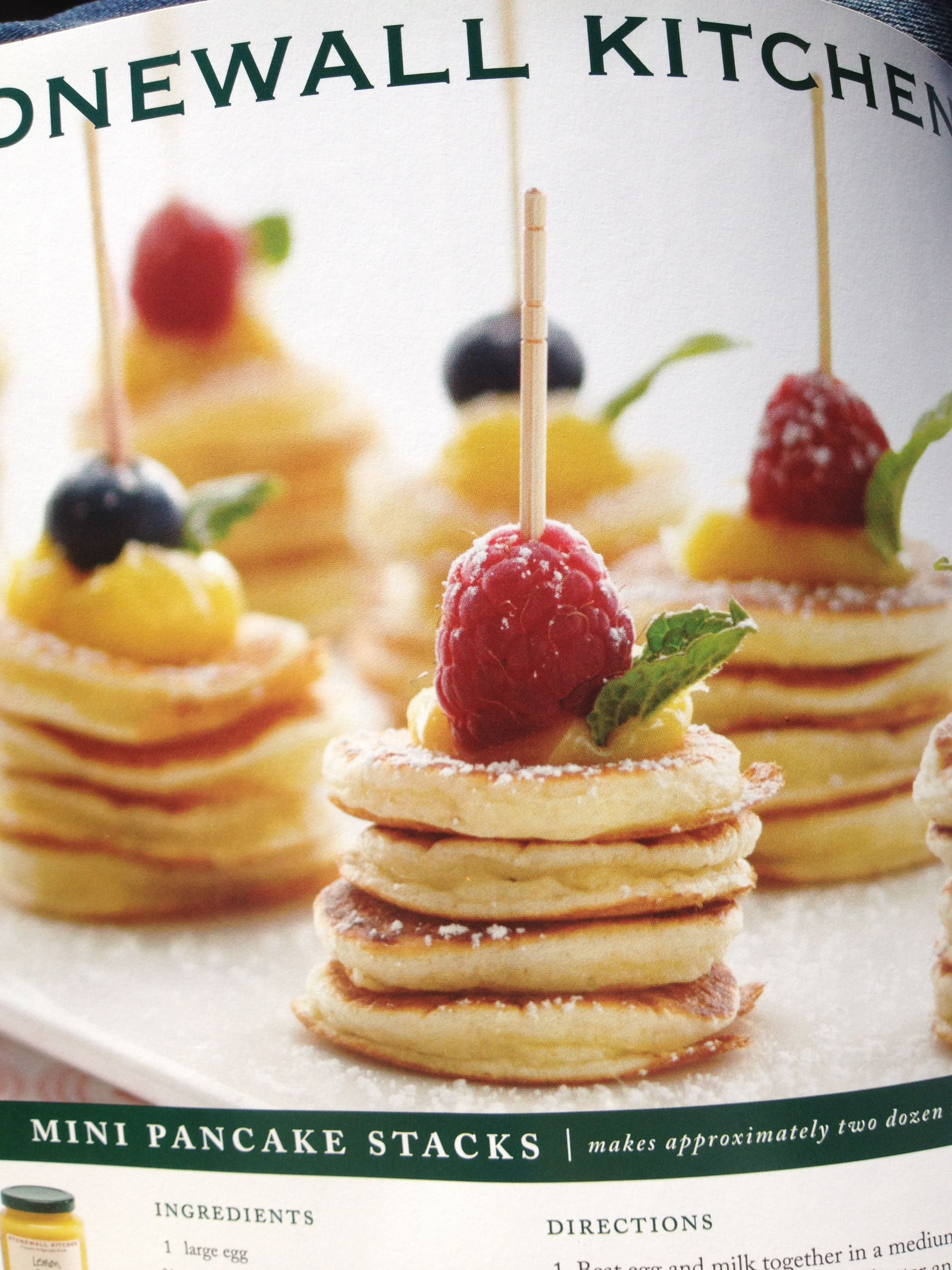 Mini Pancake Stacks perfect brunch finger food