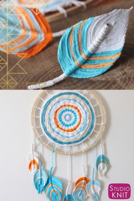 Fiber Feather Dreamcatcher DIY Craft | Studio Knit The Findologist|Lifestyle|Health|Money thefindologist DIY Love my Beachy Wall Hanging – A Fun Boho DIY with Feathers make from Yarn. Learn how to craft this easy fiber art project with Studio Knit. #StudioKnit #KnittingVideo #wallhanging #feathers Fiber Feather Dreamcatcher DIY Craft | Studio Knit  The Findologist|Lifestyle|Health|Money Love my Beachy Wall Hanging – A Fun Boho DIY with Feathers… #Craft #Dreamcatcher #Feather #Fiber #Studio