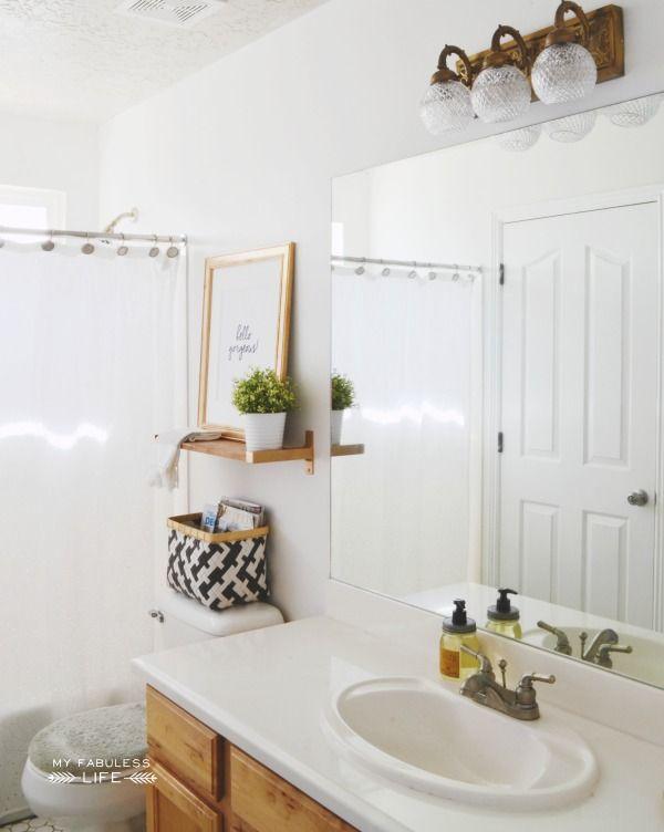 Bathroom Mirrors Under $100 budget bathroom makeover | budget bathroom