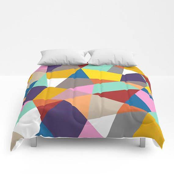 Nordic Multi Color Block Duvet Cover Or Comforter Bedspread Duvet Covers Luxury Bedding Sets Duvet