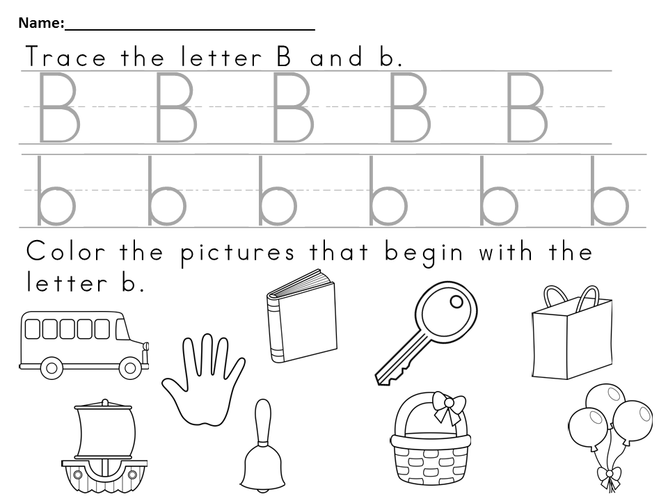 Free Worksheet to Teach the letter Bb | Reading resources, Free ...