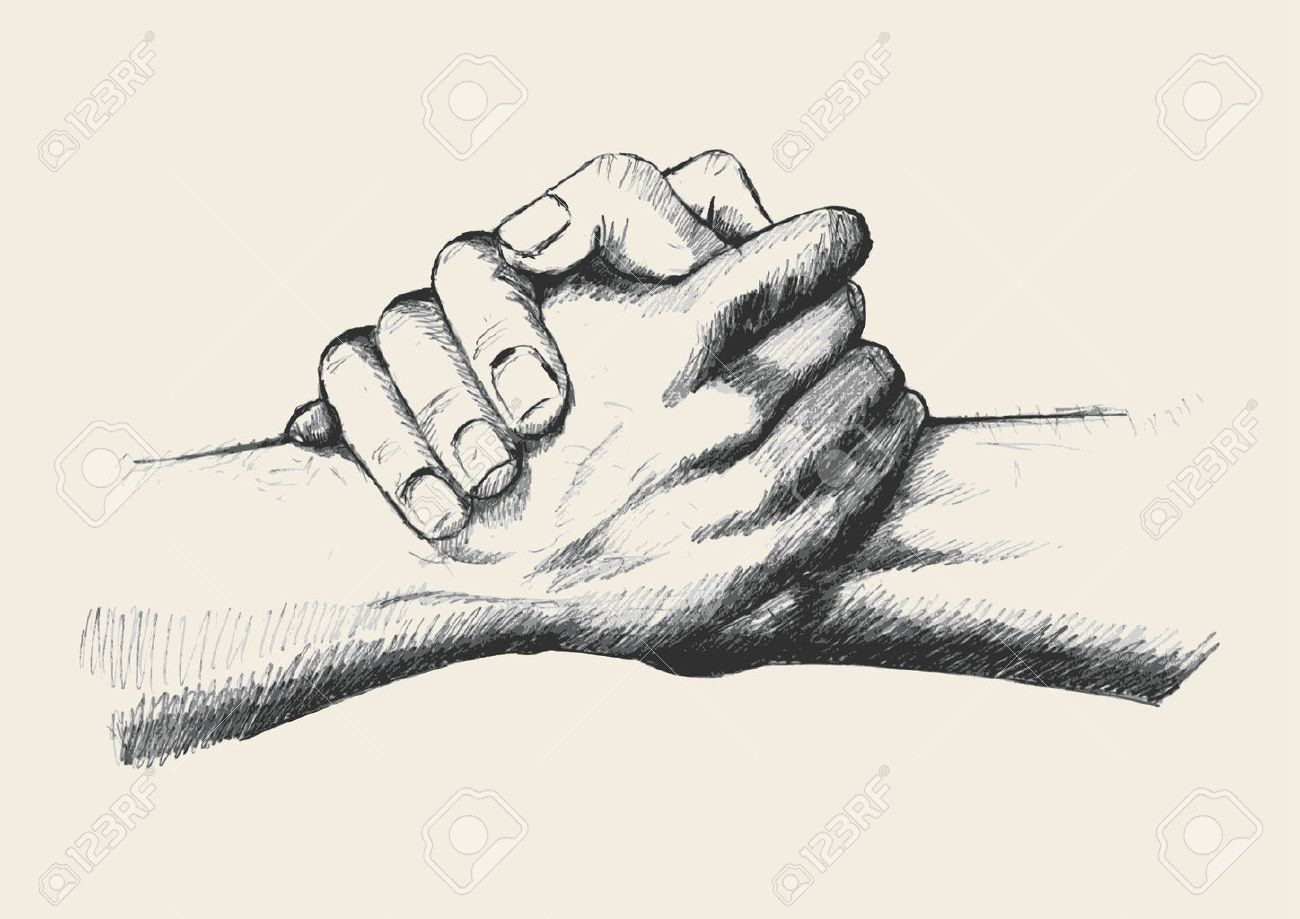Sketch Illustration Of Two Hands Holding Each Other Strongly Stock Vector 39708453 Holding Hands Drawing Hand Illustration Drawings Get inspired for two hands holding each