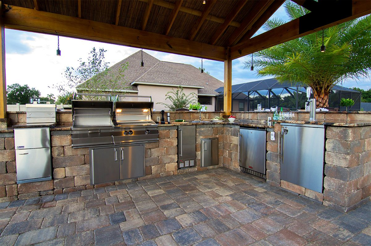 create the ultimate outdoor kitchen with stonegate sierra wall blocks by tremron backyard on outdoor kitchen yard id=44876