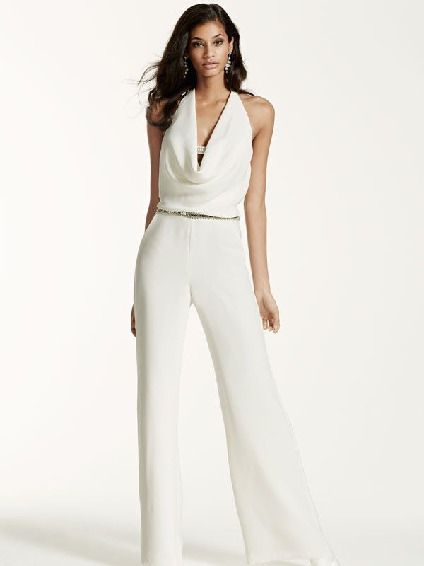 Obsessed with this chic #romper from @davidsbridal