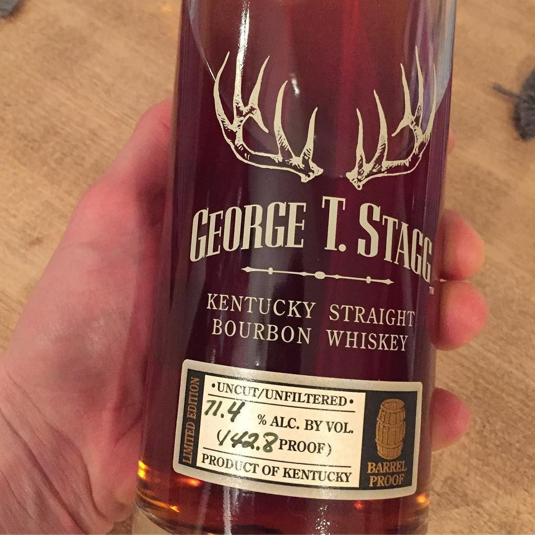 George T Stagg Tonight Taking The Stagg By The Antlers This Rich Thick Bourbon Is What Bourbon Shou Kentucky Straight Bourbon Whiskey Bourbon Bourbon Whiskey