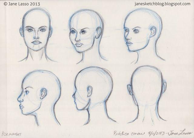 Dibujo De Diferentes Angulos De La Cabeza Head Poses Study Drawing Face Tutoriales De Dibujo Cosas De Dibujo Diseno De Personajes