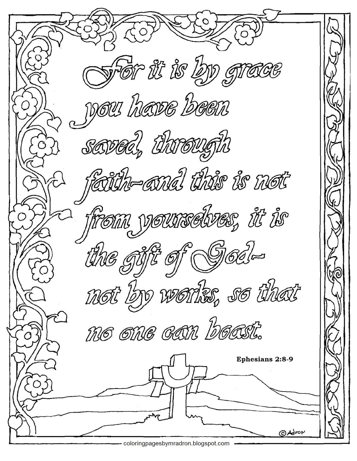 bible coloring pages ephesians - photo#23