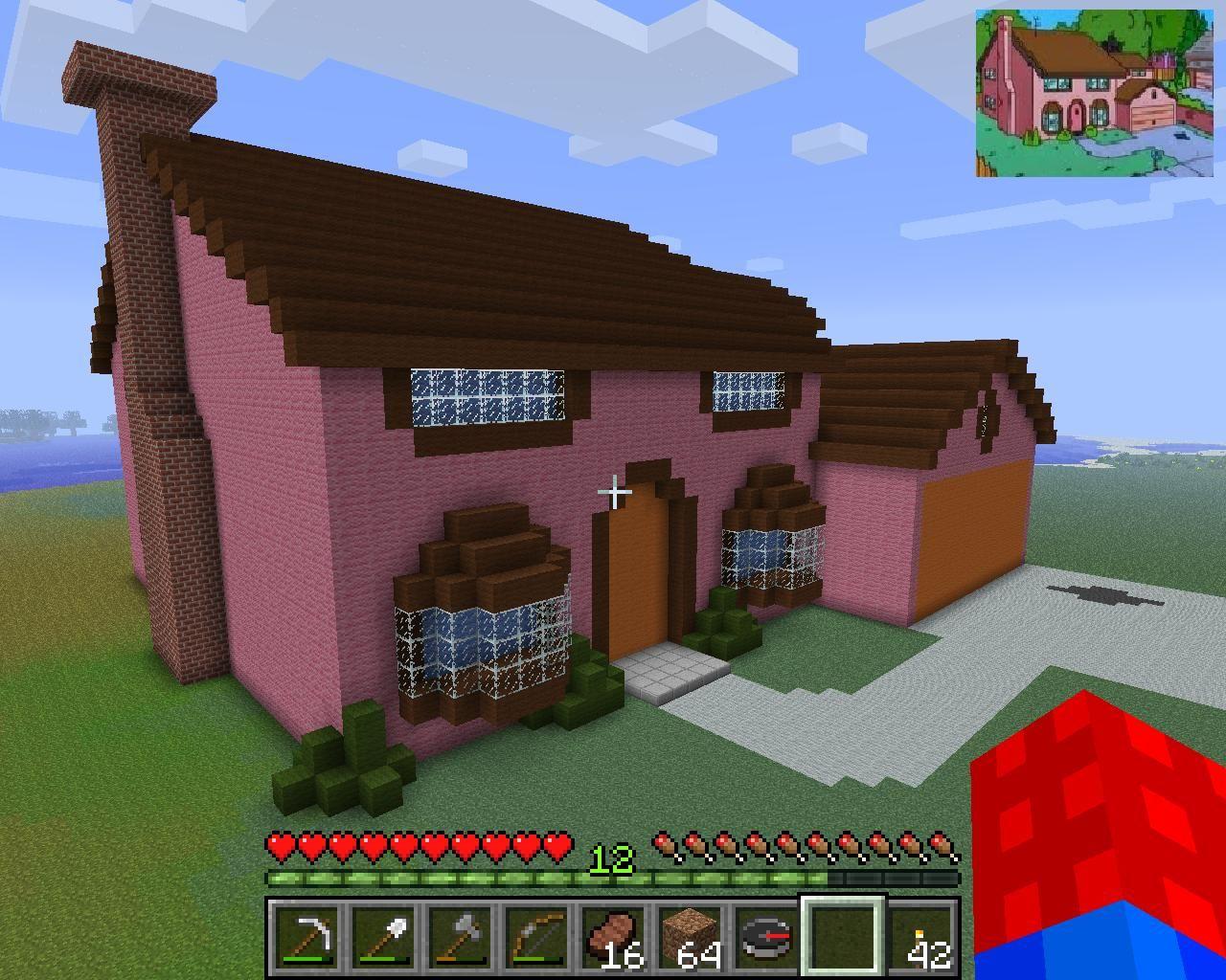minecraft simpsons house  Cool minecraft houses, Minecraft