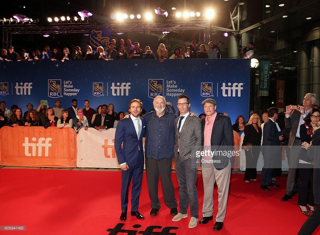 Actor Michael Stahl-David, director Rob Reiner, actor Jeffrey Donovan and actor…