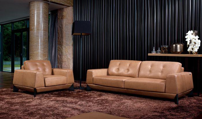 0316 Ricordi I Leather Sofa Set Joy Furniture Leather Sofa