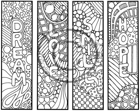 Digital Download Coloring Page Hand Drawn Thoughts