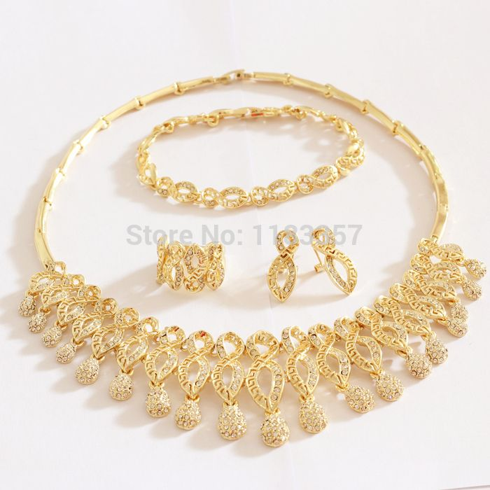 4cdb37a6a84 Find More Jewelry Sets Information about Wholesale Vintage dubai 18K Gold  Plated Choker Necklace Jewelry Chunky Statement Jewelry Sets Women Free  Shipping ...