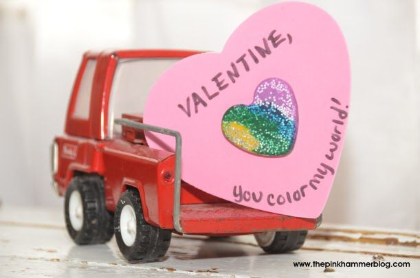 Melted Crayon Heart Valentines #crayonheart