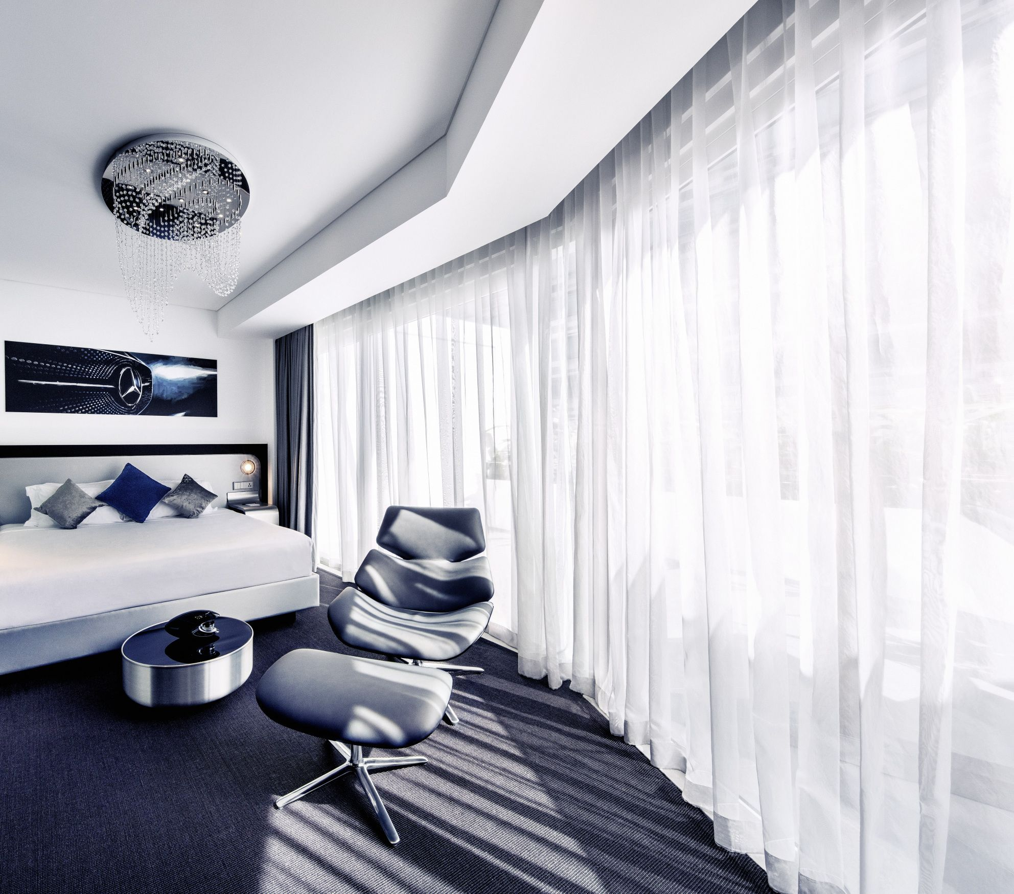 The Mercedes-Benz Living @ Fraser apartments, which already exist in London and are now being introduced in Singapore.