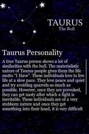 taurus horoscope personality profile