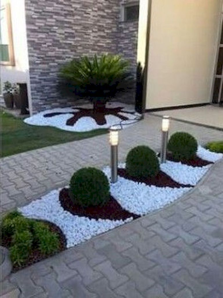 70 Magical Side Yard And Backyard Gravel Garden Design ... on Gravel Front Yard Ideas id=51299